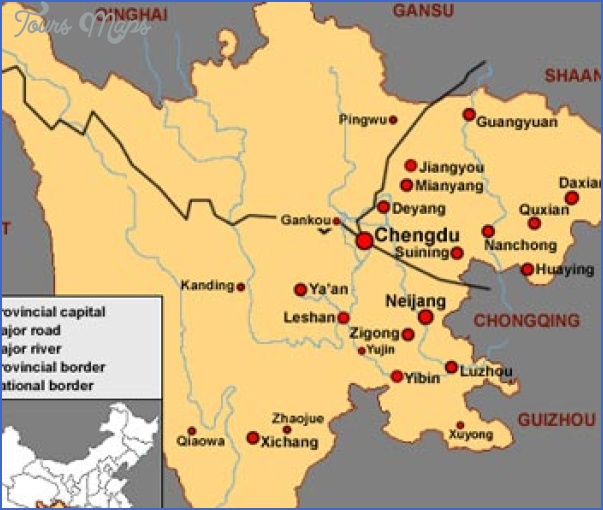 sichuan map Insight travel map China
