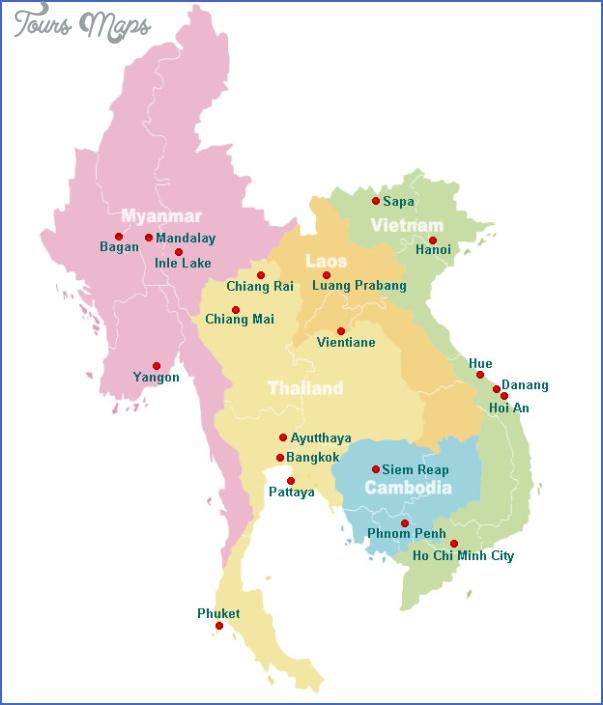 south asia travel map 1 South asia travel map