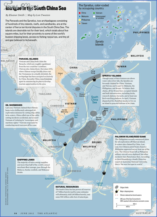 south china sea map South China Sea Map