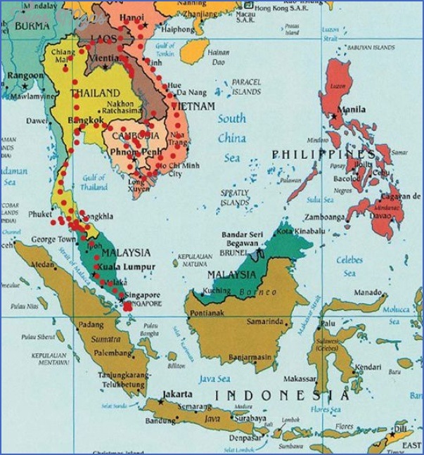 southeast asia travel route map 4 Southeast asia travel route map