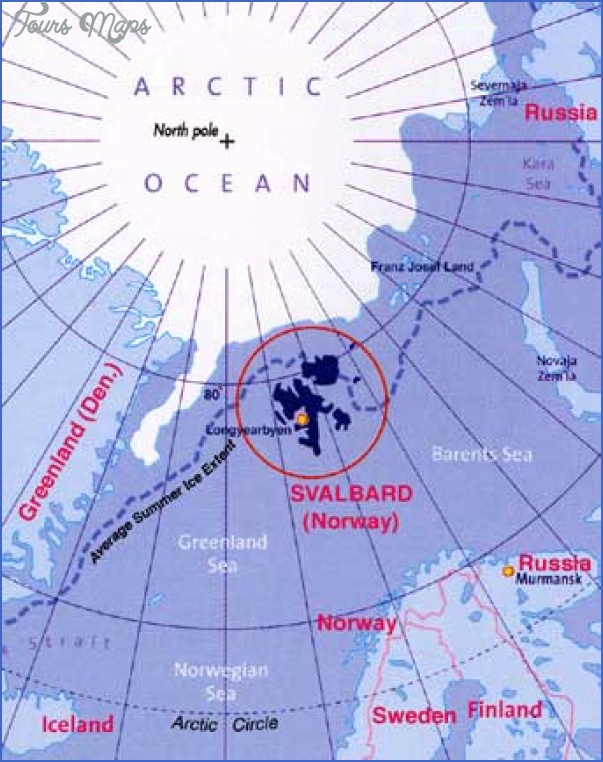 Spitzbergen Svalbard Map Map Travel Holiday Vacations