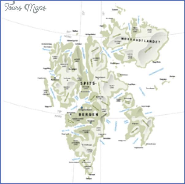 spitzbergen svalbard map 3 Spitzbergen Svalbard Map