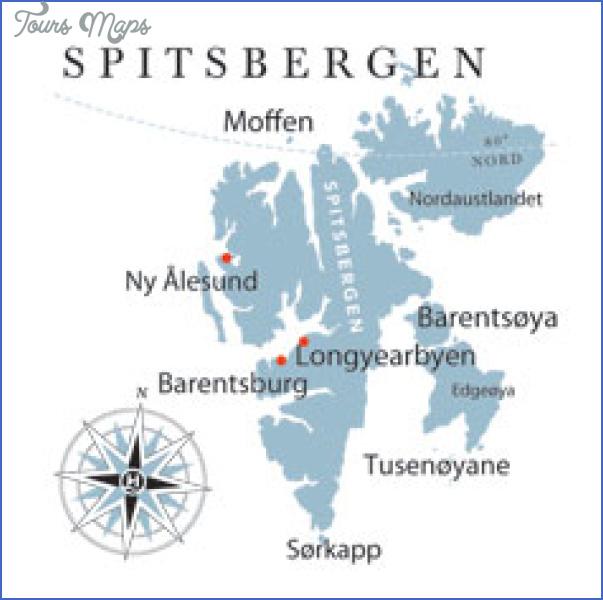 spitzbergen svalbard map 5 Spitzbergen Svalbard Map