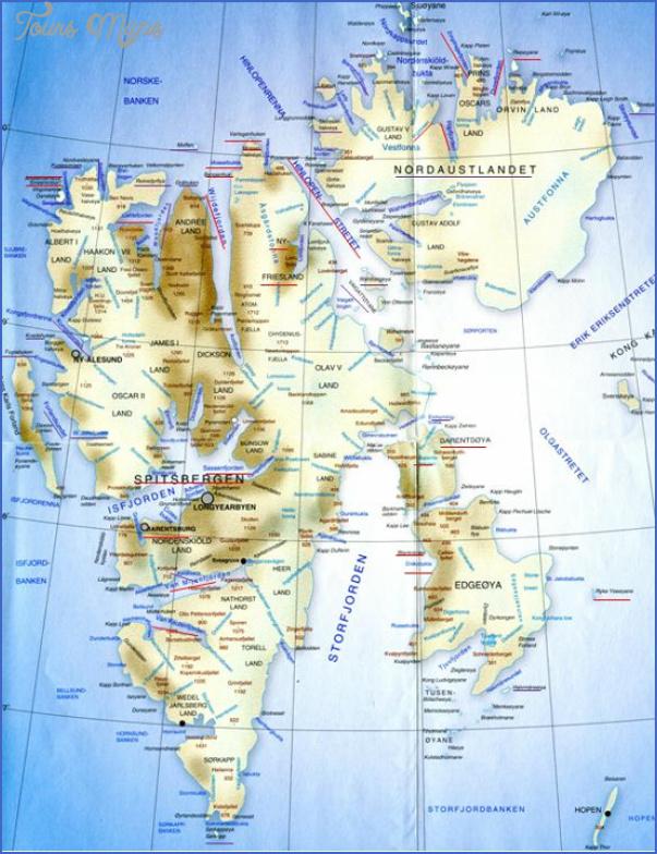 spitzbergen svalbard map 6 Spitzbergen Svalbard Map