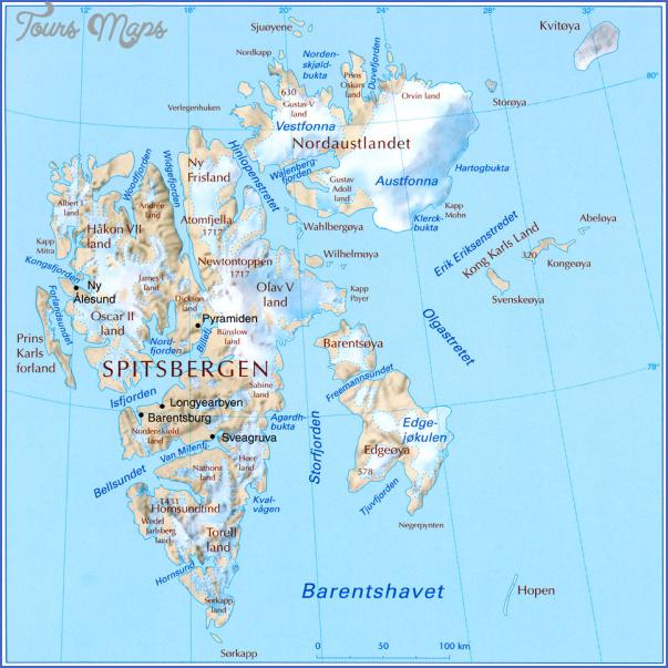 spitzbergen svalbard map 7 Spitzbergen Svalbard Map