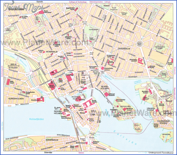 stockholm map Sweden Map Tourist Attractions
