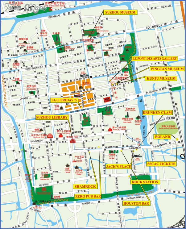 Suzhou Map ToursMapscom - Suzhou map