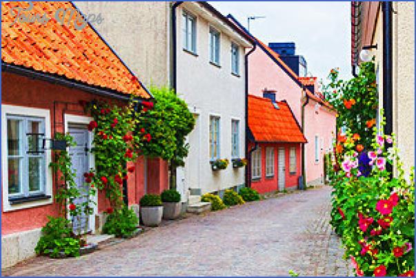 sweden gotland visby street Sweden Travel Destinations