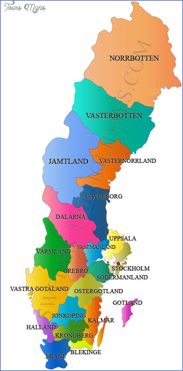 sweden map 1 Scandinavia Map Tourist Attractions