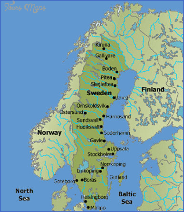 sweden map Scandinavia Map Tourist Attractions