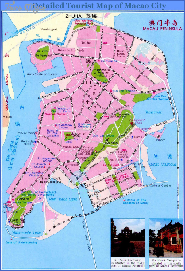 taipa and coloane map 13 Taipa and Coloane Map