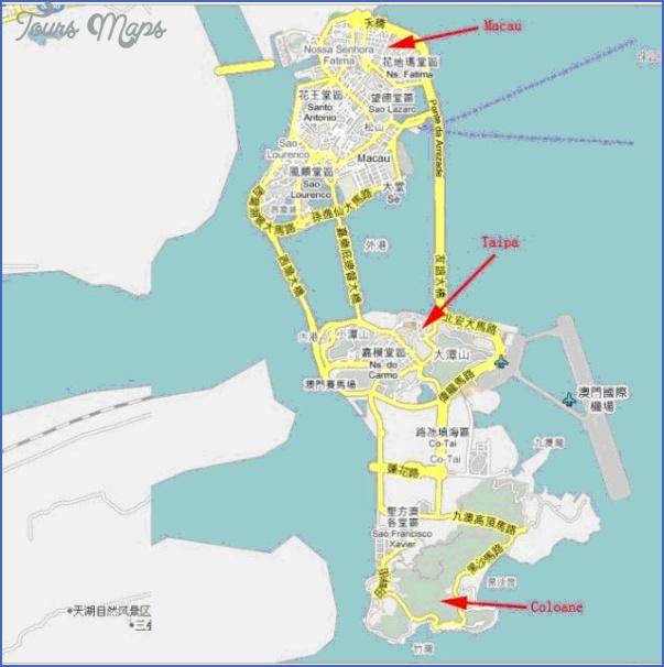 taipa and coloane map 16 Taipa and Coloane Map