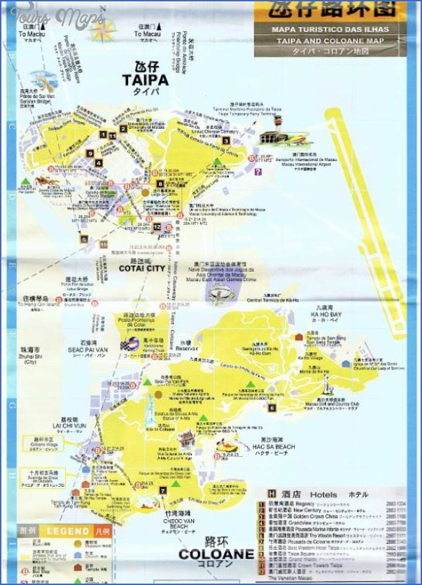 taipa and coloane map 23 Taipa and Coloane Map