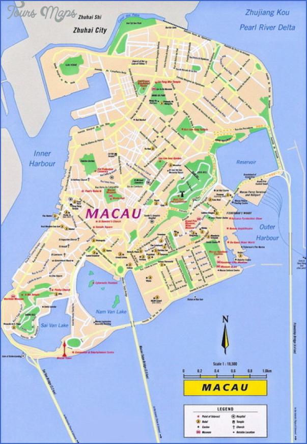 taipa and coloane map 8 Taipa and Coloane Map