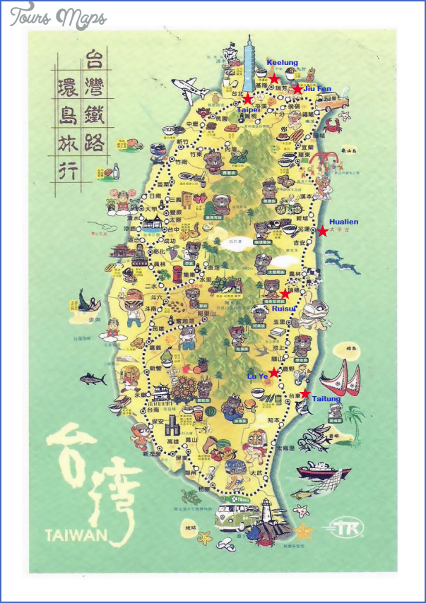 Taiwan Map Tourist Attractions ToursMapsCom – Taiwan Tourist Attractions Map