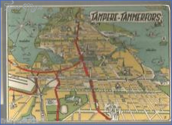 Tampere Tammerfors Finland Map ToursMapscom