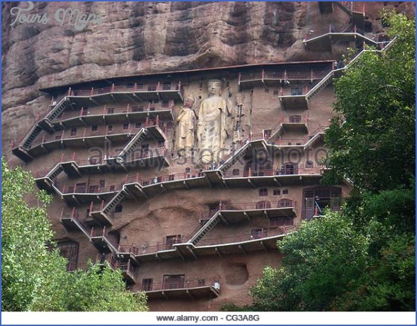 the maijishan grottoes the maijishan grottoes are the fourth largest cg3a8g Grottoes of Maijishan Maijishan Shiku
