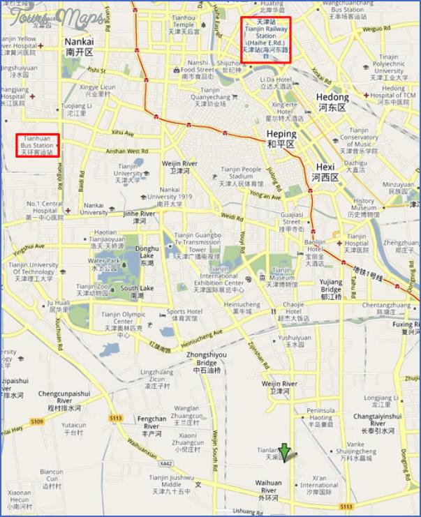 tianjin map 2 Tianjin Map