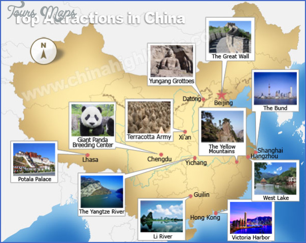 top attractions China tourist sites map