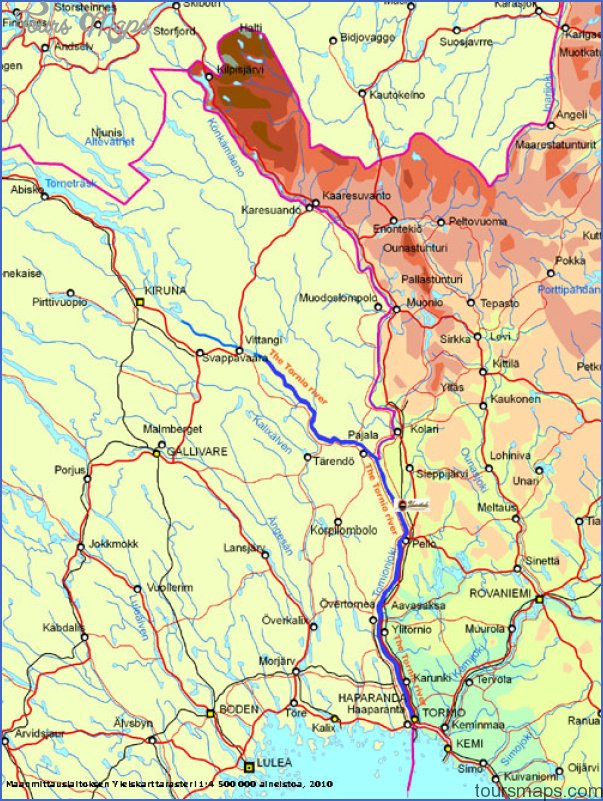 Tornio Tornea Finland Map ToursMapscom
