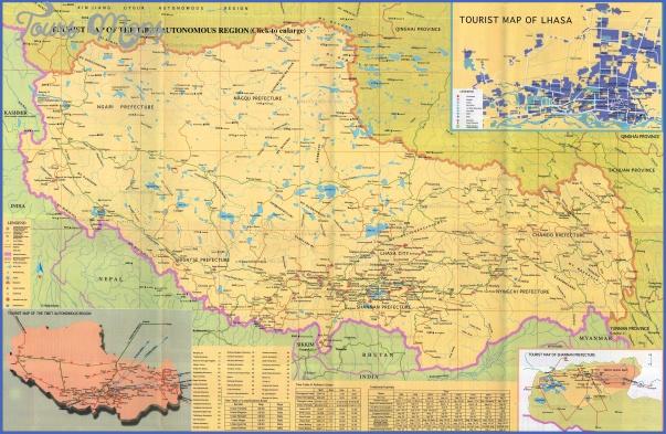 tourist Tibet Map