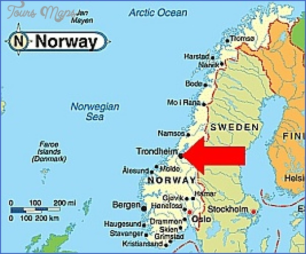 Trondheim Norway Map Map Travel Holiday Vacations - Norway map