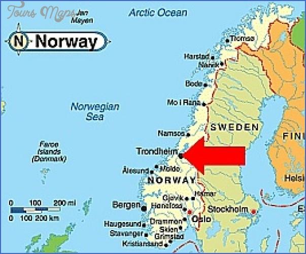 trondheim norway map 1 Trondheim Norway Map