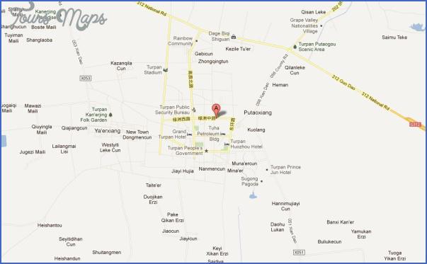turpan map 2 Turpan Map