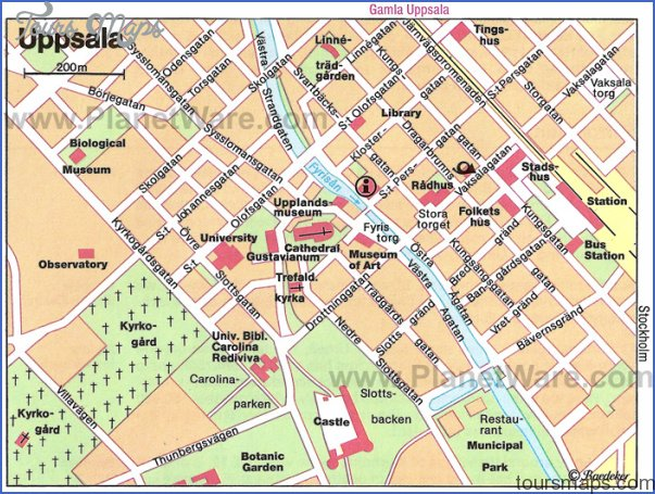 uppsala map Scandinavia Map Tourist Attractions