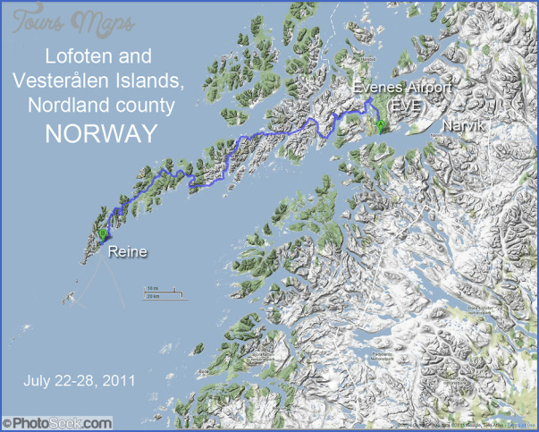 Vesteralen Norway Map Map Travel Holiday Vacations - Vesteralen norway map