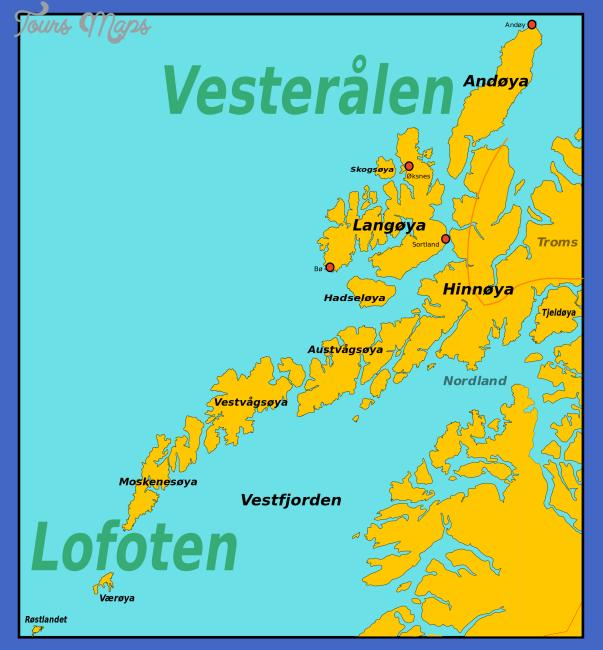 vesteralen norway map 3 Vesteralen Norway Map