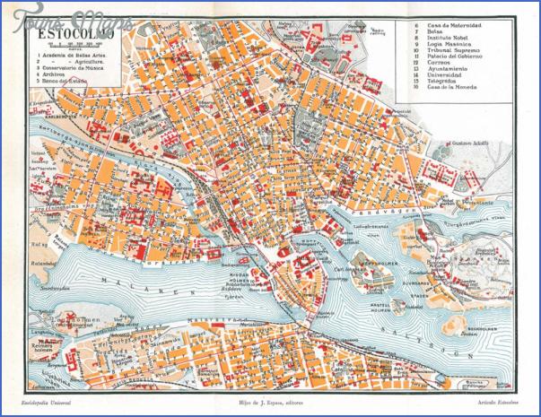 vintage 1920 map stockholm Stockholm Map
