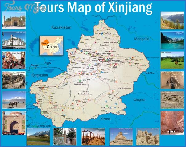 xinjiang20tourist20map Xinjiang Map