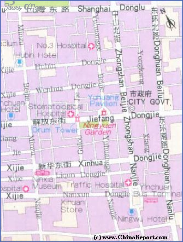 yinchuan map 2 Yinchuan Map
