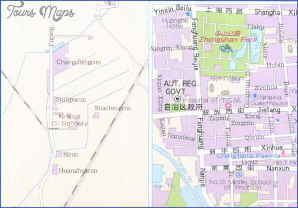 yinchuan map 4 Yinchuan Map