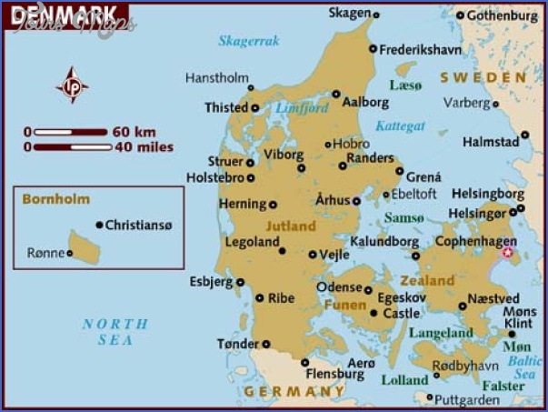 Zealand Denmark Map ToursMapscom
