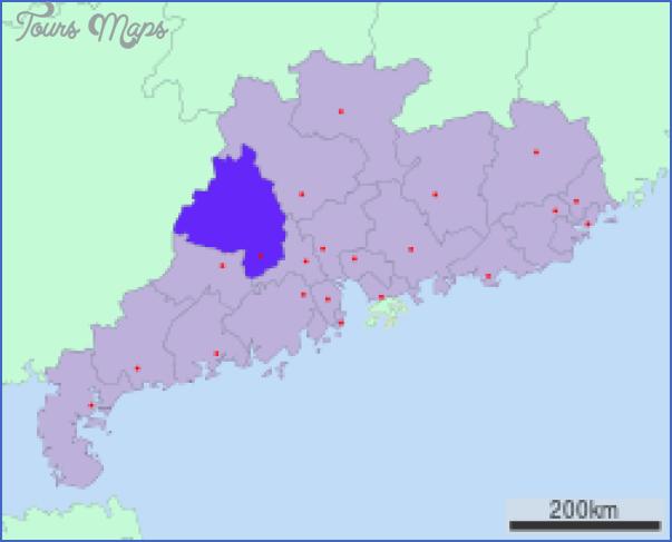 zhaoqing map 13 Zhaoqing  Map