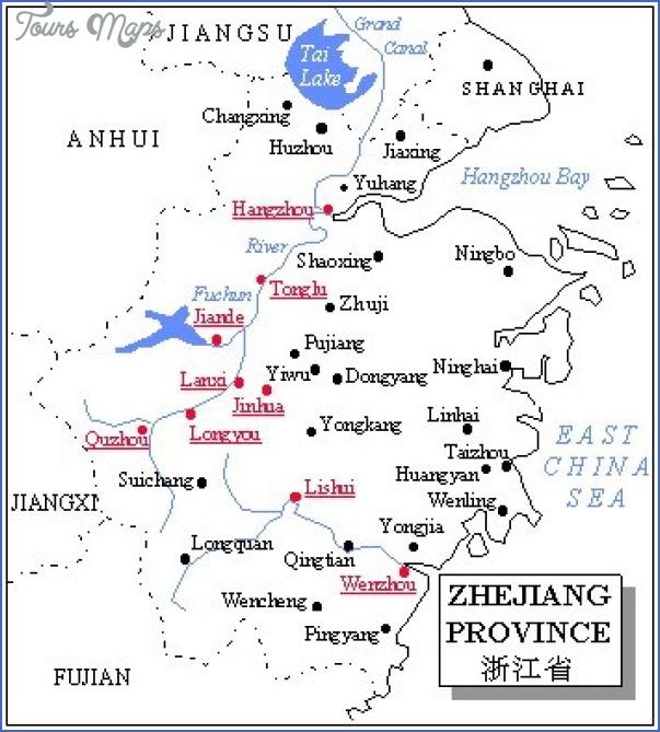 zhejiang map 3 Zhejiang Map