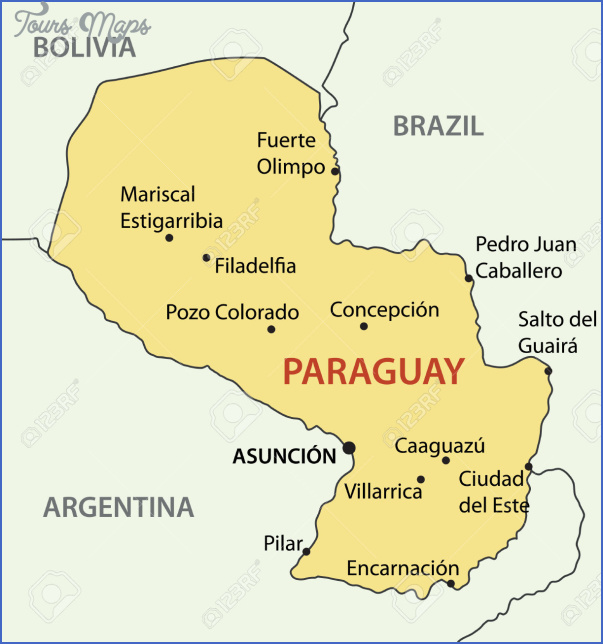 27544914 republic of paraguay vector map stock vector Paraguay Map