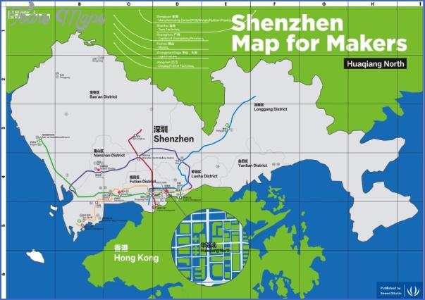 adafruit 2014 Shenzhen Map