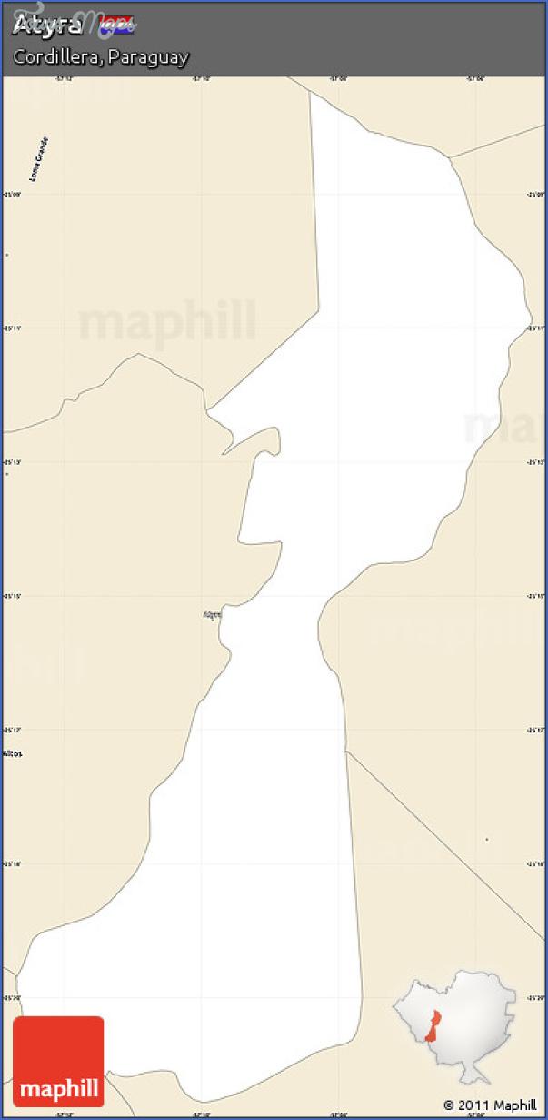 atyra map paraguay 15 Atyra Map Paraguay