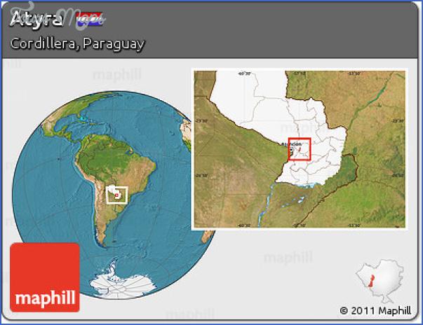 atyra map paraguay 23 Atyra Map Paraguay