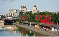France, Paris, The Canal De L'ourcq In The Parc De La Villette ...