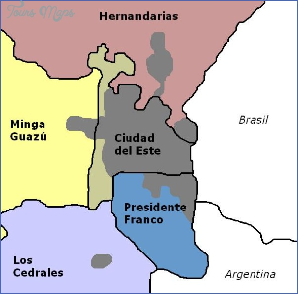 ciudad del este map paraguay 0 Ciudad del Este Map Paraguay