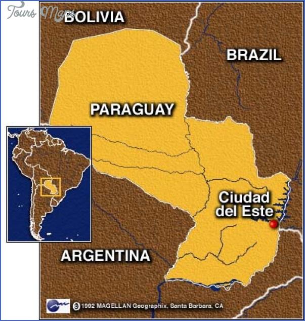 ciudad del este map paraguay 4 Ciudad del Este Map Paraguay