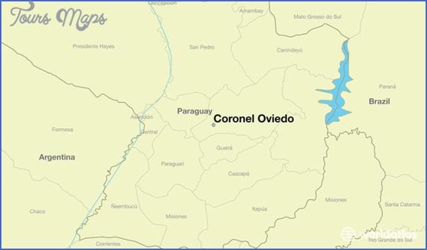 Coronel Oviedo Map Paraguay ToursMapscom