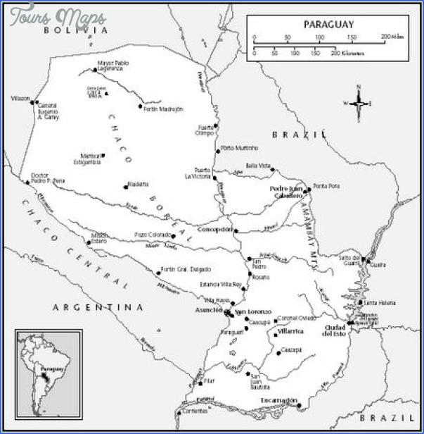 eastern paraguay map 12 Eastern Paraguay Map