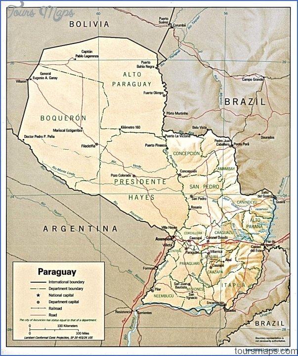 encarnacion map paraguay 14 Encarnacion Map Paraguay