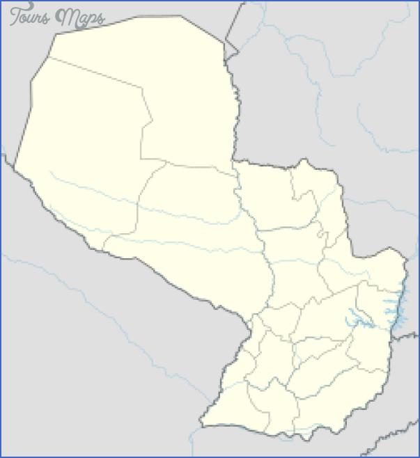 encarnacion map paraguay 2 Encarnacion Map Paraguay