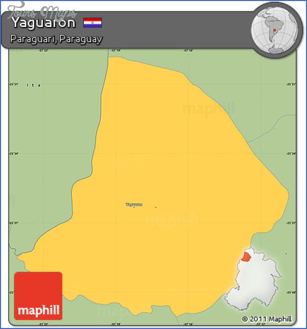 free fancy savanna style simple map of yaguaron Yaguarón Map